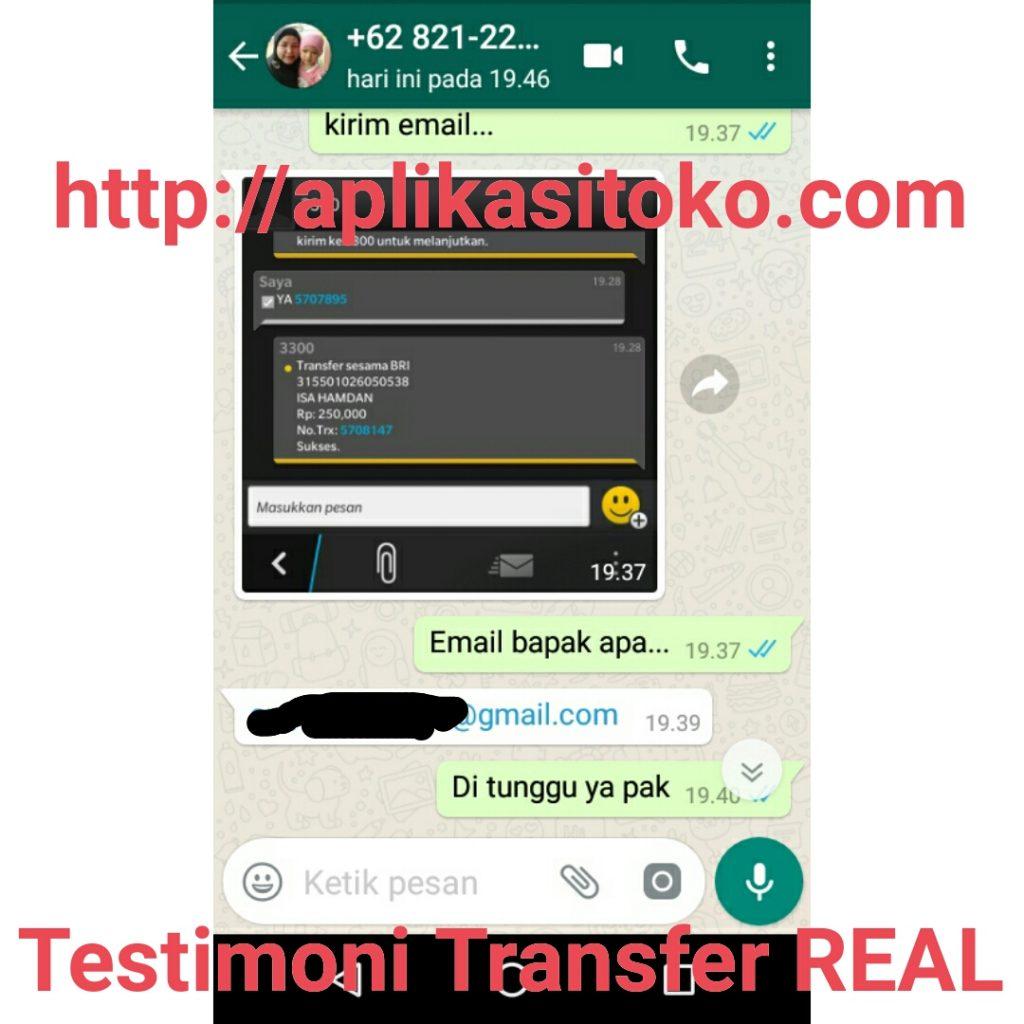 Testimoni Transfer Real Pembelian Software Apotek