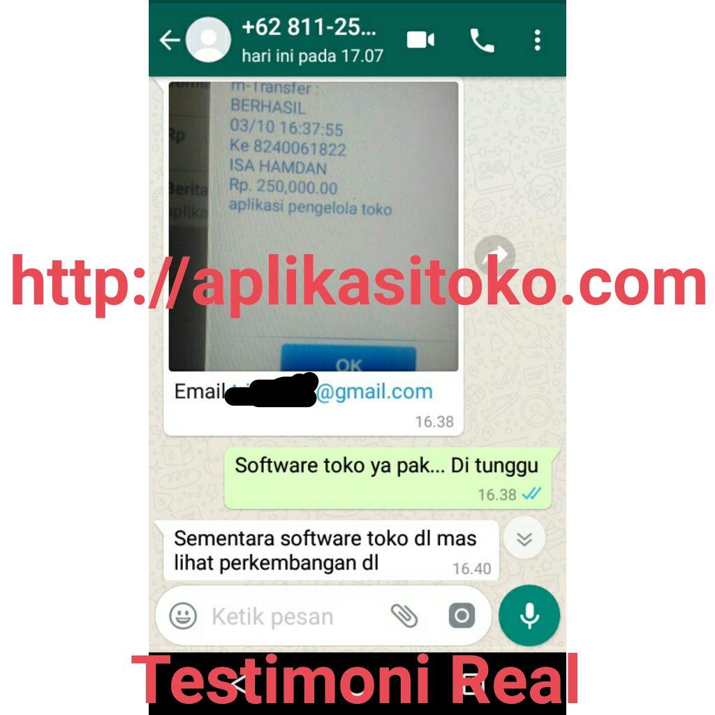 Testimoni Transfer Real Pembelian Software Toko