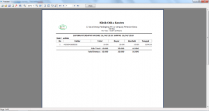 hasil cetak laporan pendapatan software apotek 3 harga