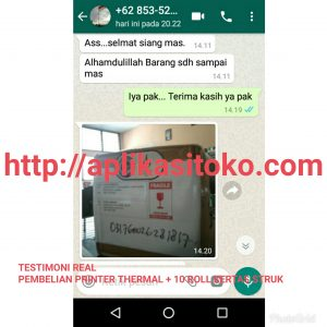Pembelian Printer Thermal + 10 Roll Kertas Struk