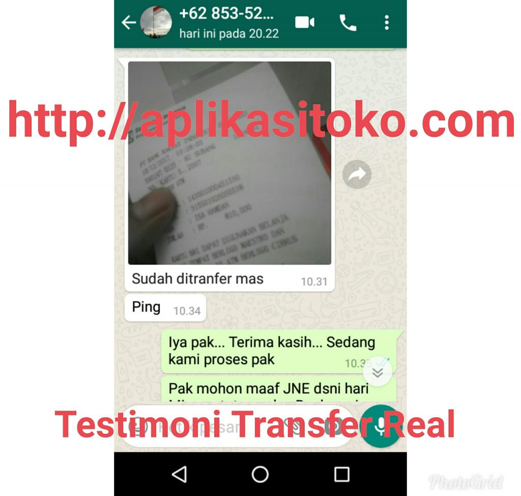 Testimoni Transfer Real Pembelian Printer Thermal