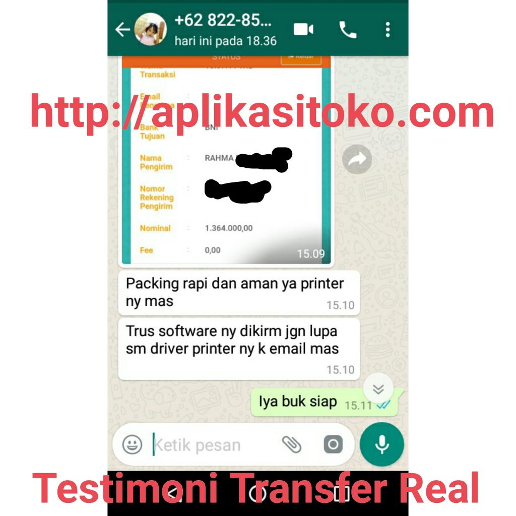 Testimoni Real Software Toko Bangunan Dan Printer Thermal