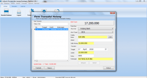 Form Hutang Ke Bank Software Akuntansi
