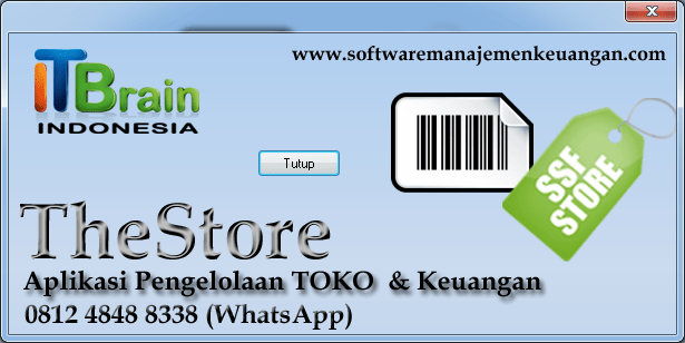 """software toko """"the store"""""""