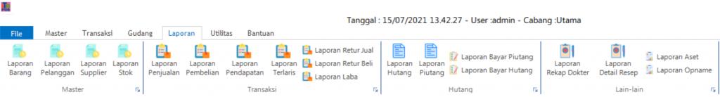 ITBrain POS Apotek   Laporan