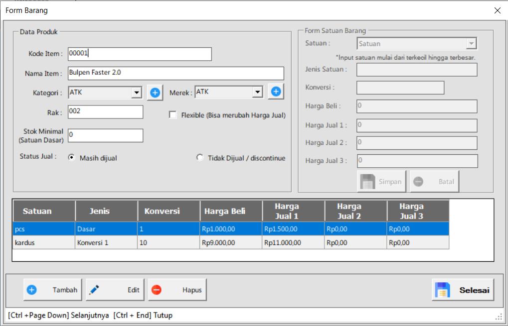 Software Toko | Tambah Produk | ITB POS